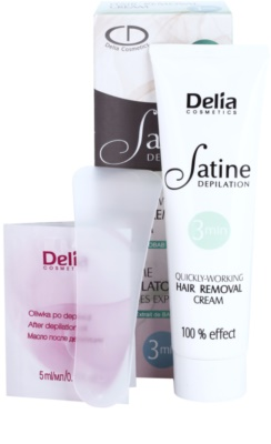 Delia Cosmetics Satine Depilation Quickly-Working depilační krém na nohy 1