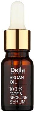 Delia Cosmetics 100% Serum Argan Oil intensives regenerierendes und verjüngendes Serum mit Arganöl für Gesicht, Hals und Dekolleté