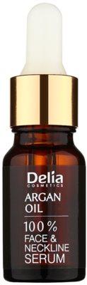 Delia Cosmetics 100% Serum Argan Oil Ser pentru regenerare si intinerire cu acid hialuronic pentru fata, gat si piept
