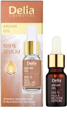 Delia Cosmetics 100% Serum Argan Oil intenzivni regeneracijski in pomlajevalni serum z arganovim oljem za obraz, vrat in dekolte 1