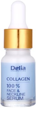 Delia Cosmetics 100% Serum Collagen Ser pentru hidratare intensiva anti-imbatranire  pentru fata, gat si piept