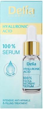 Delia Cosmetics 100% Serum Hyaluronic Acid intenzivni serum za zapolnitev gub s hialuronsko kislino za obraz, vrat in dekolte 2