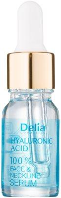 Delia Cosmetics 100% Serum Hyaluronic Acid intensywne serum wypełniające zmarszczki z kwasem hialuronowym do twarzy, szyi i dekoltu