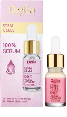Delia Cosmetics 100% Serum Stem Cells sérum intensivo reafirmante antirrugas com células estaminais para rosto, pescoço e decote 1