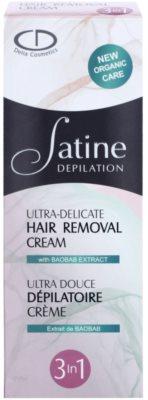 Delia Cosmetics Satine Depilation Ultra-Delicate crema depilatoare pentru mâini, axile și zona inghinală pentru piele sensibila