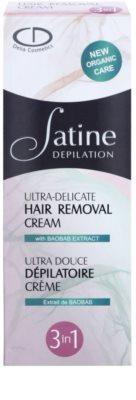 Delia Cosmetics Satine Depilation Ultra-Delicate creme de depilação para braços, axilas e virilha para pele sensível