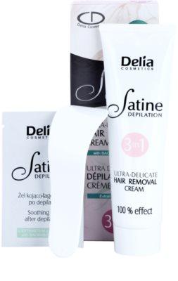 Delia Cosmetics Satine Depilation Ultra-Delicate crema depilatoare pentru mâini, axile și zona inghinală pentru piele sensibila 1