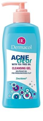 Dermacol Acneclear gel desmaquillante para pieles problemáticas y con acné