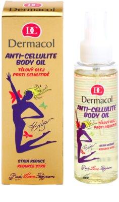 Dermacol Enja Body Love Program Massageöl für den Körper gegen Cellulite und Schwangerschaftsstreifen 1