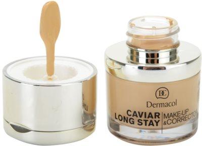 Dermacol Caviar Long Stay дълготраен фон дьо тен с екстракт от хайвер и коректор за несъвършенства 2
