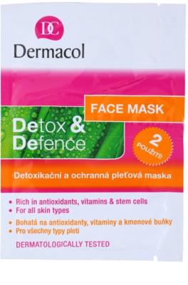 Dermacol Detox & Defence razstrupljevalna in zaščitna maska za obraz za vse tipe kože