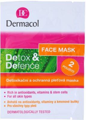 Dermacol Detox & Defence schützende Hautmaske mit Detox-Wirkung für alle Hauttypen