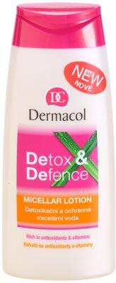 Dermacol Detox & Defence apa micelara cu efect de detoxifiere si protectie pentru fata, gat si piept