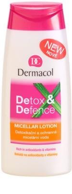 Dermacol Detox & Defence méregtelenítő és ápoló micelláris víz arcra, nyakra és dekoltázsra
