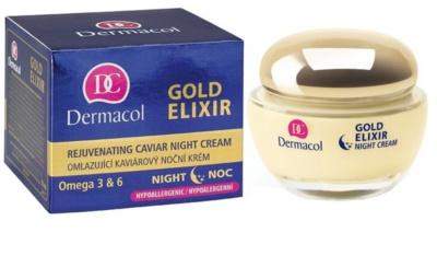 Dermacol Gold Elixir éjszakai fiatalító krém kaviárral 1