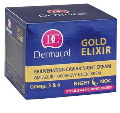 Dermacol Gold Elixir éjszakai fiatalító krém kaviárral 2