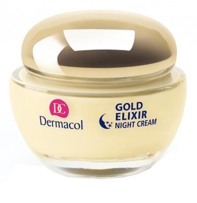 Dermacol Gold Elixir crema de noche rejuvenecedora  con caviar
