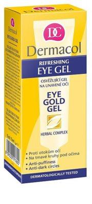Dermacol Gold erfrischendes Balsam gegen Schwellungen und Augenringe 2
