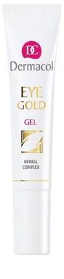 Dermacol Gold gel refrescante contra olheiras e inchaços
