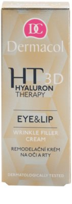 Dermacol HT 3D crema remodeladora para labios y contorno de ojos 2