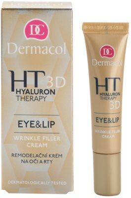 Dermacol HT 3D crema remodeladora para labios y contorno de ojos 3