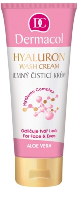 Dermacol Hyaluron creme suave de limpeza para rosto e olhos