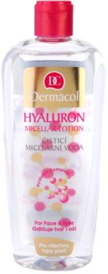 Dermacol Hyaluron água micelar de limpeza