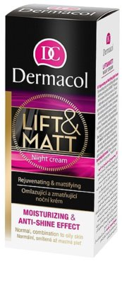 Dermacol Lift & Matt crema de noche rejuvenecedora  para pieles mixtas y grasas 2