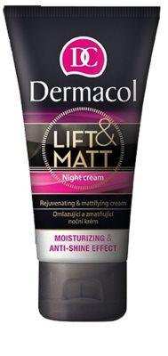 Dermacol Lift & Matt crema de noapte pentru reintinerire pentru ten mixt si gras