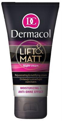 Dermacol Lift & Matt crema de noche rejuvenecedora  para pieles mixtas y grasas