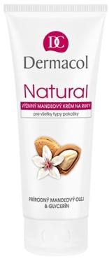 Dermacol Natural creme de mãos nutritivo com óleo de amêndoas para mãos e unhas