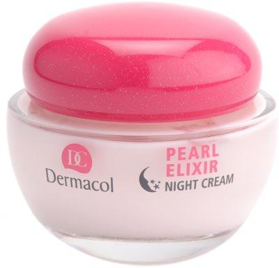 Dermacol Pearl Elixir creme de noite iluminador e de alisamento