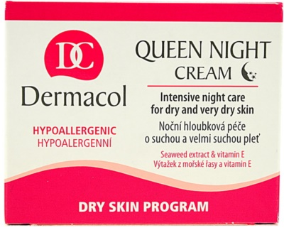Dermacol Dry Skin Program Queen Night Cream éjszakai feszesítő ápolás száraz és nagyon száraz bőrre 1