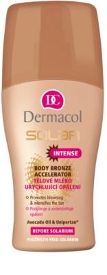 Dermacol Solar leite corporal acelerador de bronzeamento acelerador de bronzeamento