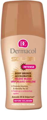 Dermacol Solar мляко за тяло  за ускоряване на тена