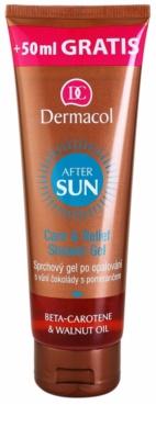 Dermacol After Sun Duschgel für die Zeit nach dem Sonnenbad mit Betakarotin