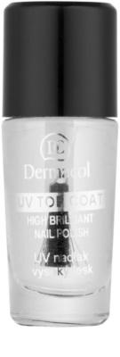 Dermacol UV Top Coat прозрачен лак за нокти