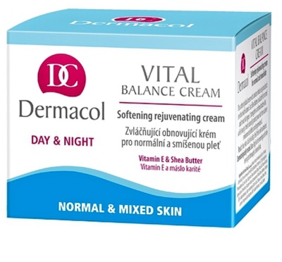 Dermacol Vital crema de día suavizante para pieles normales y mixtas 1