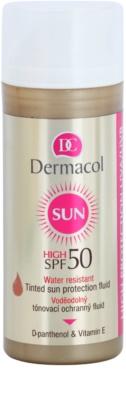 Dermacol Sun Water Resistant wasserfestes Fluid zum Tönen der Haut SPF 50
