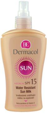 Dermacol Sun Water Resistant leite solar à prova de água SPF 15 1