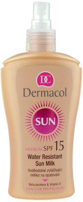 Dermacol Sun Water Resistant wasserfeste Sonnenmilch SPF 15 1
