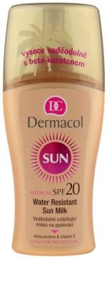 Dermacol Sun Water Resistant vodoodporno mleko za sončenje SPF 20