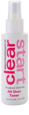 Dermalogica Clear Start Breakout Clearing čisticí a osvěžující tonikum ve spreji na obličej a tělo