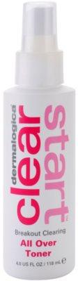 Dermalogica Clear Start Breakout Clearing tisztító és frissítő tonik spray formában arcra és testre