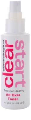 Dermalogica Clear Start Breakout Clearing čisticí a osvěžující tonikum ve spreji na obličej a tělo 1