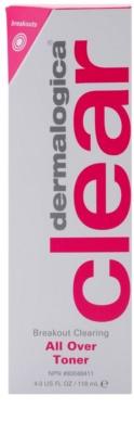 Dermalogica Clear Start Breakout Clearing čisticí a osvěžující tonikum ve spreji na obličej a tělo 3