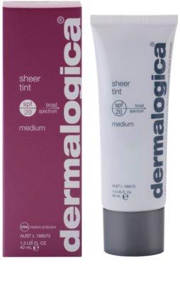 Dermalogica Sheer Tint gyengéd tonizáló fluid SPF 20 1