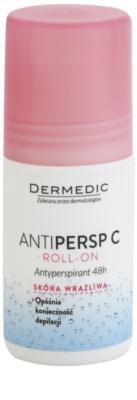Dermedic Antipersp C deodorant roll-on pentru a încetini creșterea părului  48 de ore