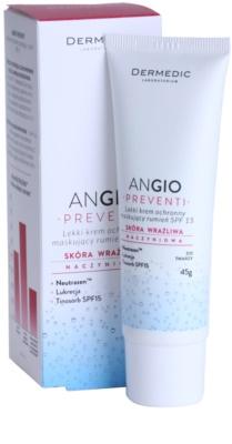 Dermedic Angio Preventi ľahký krycí pleťový krém pre citlivú pleť so začervenaním 1