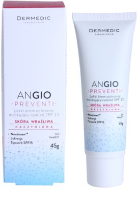 Dermedic Angio Preventi ľahký krycí pleťový krém pre citlivú pleť so začervenaním 2